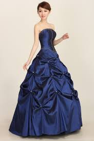 dresses to wear to a wedding reception sapphire blue pearl pleated lace up gowns wedding