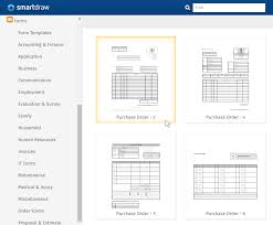 purchase order form software free form templates from smartdraw