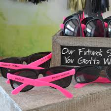wedding favor glasses personalized pink black frame sunglasses favors