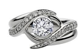 interlocking engagement ring wedding band engagement ring entwined bridal set engagement ring matching