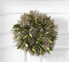 herb wreath live dried herb wreath pottery barn