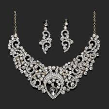 necklace wedding sets images Bridal wedding jewelry sets rhinestone filigree bride jewelry gold jpg