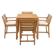 eucalyptus wood dining table john lewis alta 4 seat garden high dining table chairs set fsc