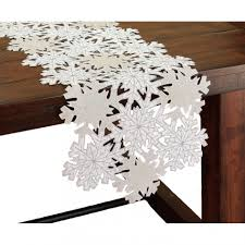Table Runners For Dining Room Table by Decoration Mesmerizing White Christams Lace Table Runner