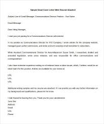cover letter via email cover letter template for email 9 email cover letter templates