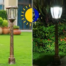 Patio Column Lights Exterior Outdoor Wall Lantern Garden Light Fixture Path Lawn Post