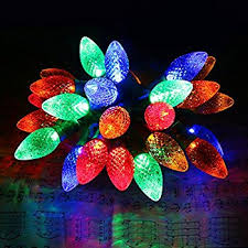 red c7 led christmas lights amazon com 25 c7 multicolor faceted led indoor outdoor christmas