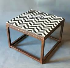 outdoor mosaic accent table mosaic accent table mosaic side table herringbone black white