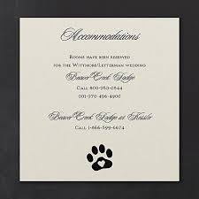 print wedding invitations include paw print design accommodation cards in your dog lover s