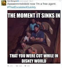 Disney World Meme - nick mangold posts hilarious meme after jets cut celebnsports247