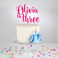 birthday cake toppers personalised acrylic birthday age cake topper by twenty seven