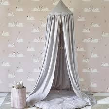 linen canopy silver grey u2013 hibou home