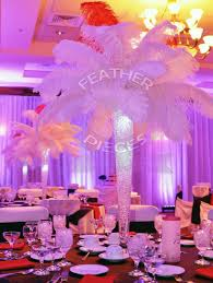 feather centerpieces ostrich feather centerpieces party favors ideas
