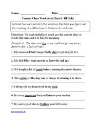 6th grade common core reading literature worksheets
