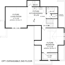 Expandable Floor Plans Laurel 5215 3 Bedrooms And 2 5 Baths The House Designers
