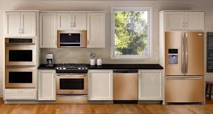 Copper Kitchen Backsplash Kitchen Appliances Copper Colored Kitchen Appliances Under Wooden