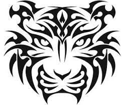 nr48 tribal tiger decal vinyl sticker wall