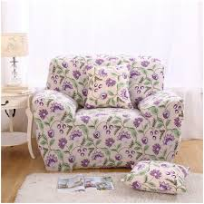 sofa flower print living room varnish wooden legs floral print stretch sofa cover
