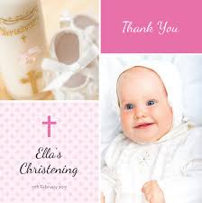 baby thank you cards christening baby thank you card printed in ireland by