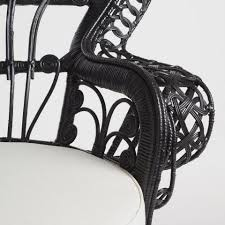 Cane Peacock Chair For Sale Black Wicker Peacock Chair World Market