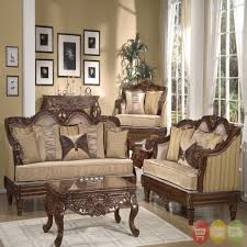 living rooms beige stained wall antique sofa set light wood floor