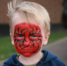 face painting all done spiderman face painting at brands u2026 flickr