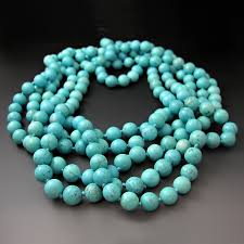 turquoise gemstone long blue gemstone turquoise necklace