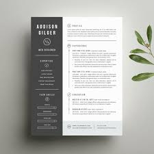 Digital Resume Resume Template And Cover Letter Template For Word Digital