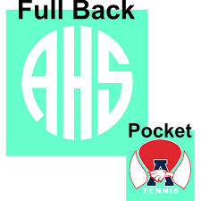 Comfort Colors Chalky Mint 2016 Ahs Circle Monogram With Tennis Logo On Comfort Colors Shirt