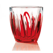 portaspezie guzzini bicchiere da acqua iris ø9xh9 2 cm 350cc pezzi colore rosso