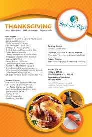 celebrate thanksgiving with a 2017 feast at cove