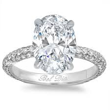 oval shaped engagement rings oval diamond engagement ring with domed pave band