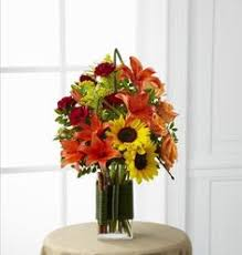 ftd bright autumn centerpiece fall thanksgiving flowers