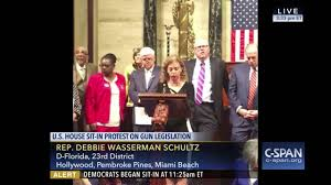 wasserman schultz reads gabby giffords u0027 letter during the house