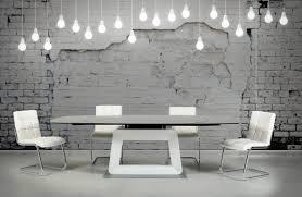 revel modern black and white extendable dining table modern