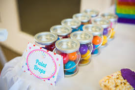gumball party favors paint can party favor party ideas rainbow