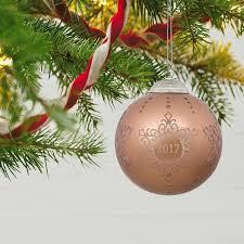 2017 commemorative glass ornament keepsake ornaments