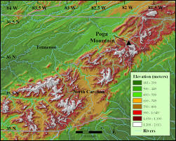 Elevation Map Usa by Appalachian Mountains Map Projects Pinterest