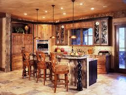 Rustic Backsplash For Kitchen Kitchen Cabinets Rustic Vintage Style Kitchen Design With Wooden