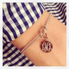 monogram bracelet sterling silver monogrammed square knot bracelet sterling gold or gold