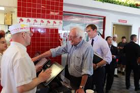 bernie sanders and his magical trip to in n out burger