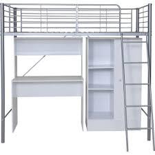White High Sleeper Bed Frame Metal High Sleeper White Bed Frame With Wardrobe And Desk