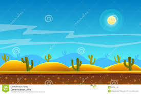 desert halloween background desert cartoon background stock vector image 50761112