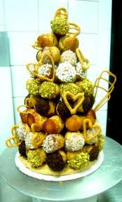 croquembouche french dessert is a cone shaped composition of