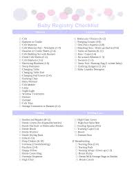 bridal registry ideas list photo baby shower registry checklist image