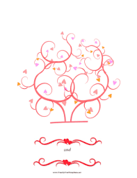 heart thumbprint tree template