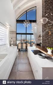 modern villa in gan ner israel interior design narrow kitchen