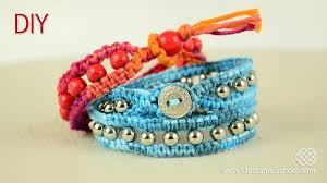 beads friendship bracelet images Diy beaded wrap bracelet with square knot and button clasp jpg