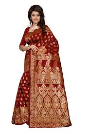 buy see more maroon art silk banarasi saree banarasi 1002 maroon