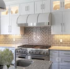 Kitchen Subway Tile Backsplash Designs Grey Glass Subway Tile Backsplash Home Design